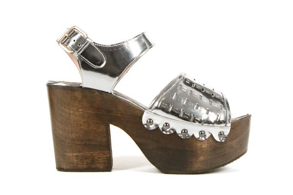 nikki perforated clog sandals | opening ceremony