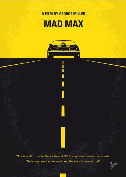 My Mad Max  Movie Poster   Art Print