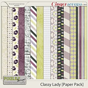 {Classic Lady} Digital Paper Pack by Pixelily Designs available at Gingerscraps http://store.gingerscraps.net/Pixelily-Designs/ #digiscrap #digitalscrapbooking #pixelilydesigns #classiclady