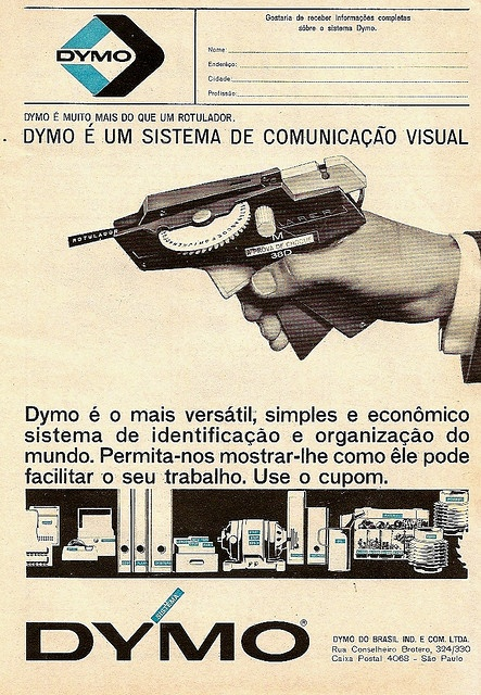 DYMO ad, check out the old logos