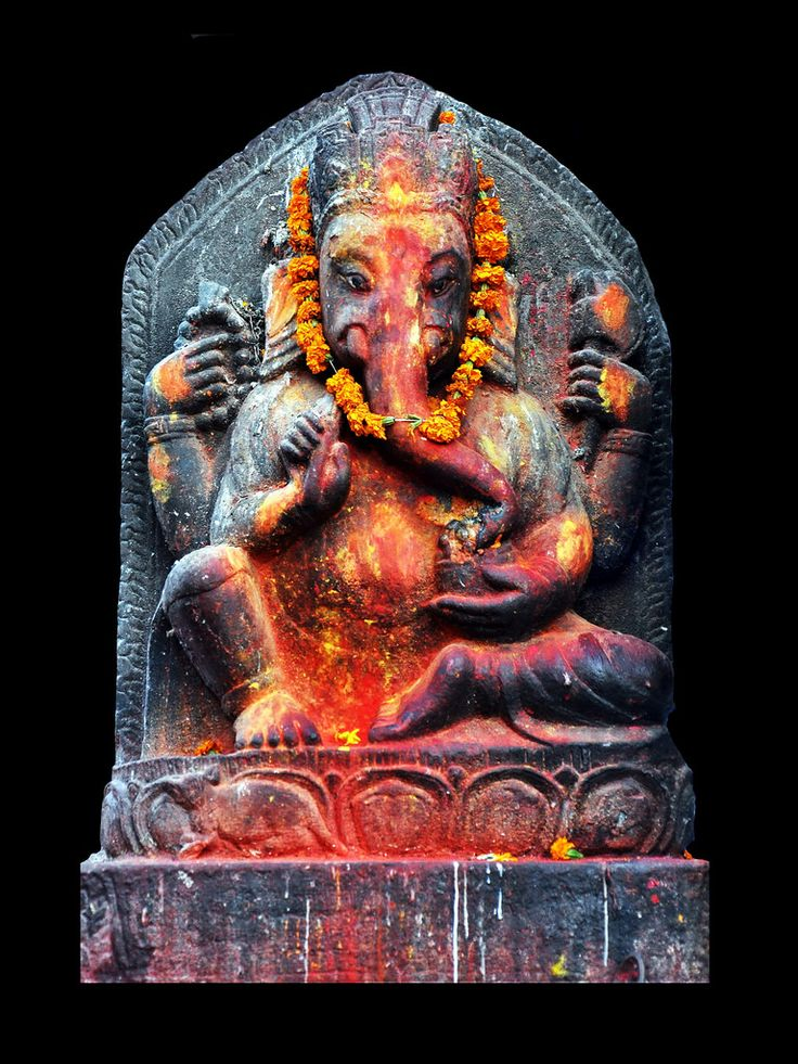 Ganesha, also spelled Ganesh, and also known as Ganapati and Vinayaka, is a widely worshipped deity in the Hindu pantheon. His image is found throughout India and Nepal. Hindu sects worship him regardless of affiliations. Devotion to Ganesha is widely diffused and extends to Jains, Buddhists, and beyond India.  Although he is known by many attributes, Ganesha's elephant head makes him easy to identify. Ganesha is widely revered as the remover of obstacles, the patron of arts and sciences ...