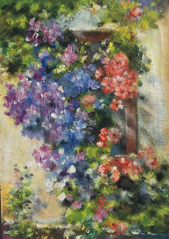 "At the window 1 - original oil painting 11"" x 7"" (28 cm x 18 cm)"
