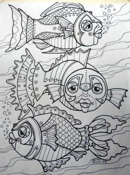 STEAMPUNK FISHIES by Nelson Failing: