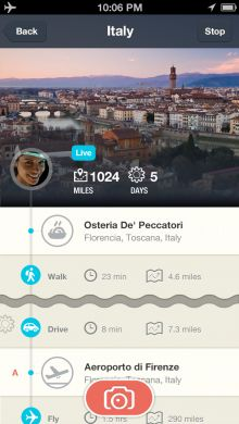 Stylish location diary app Rove now lets you share your trips, and track yourself when offline