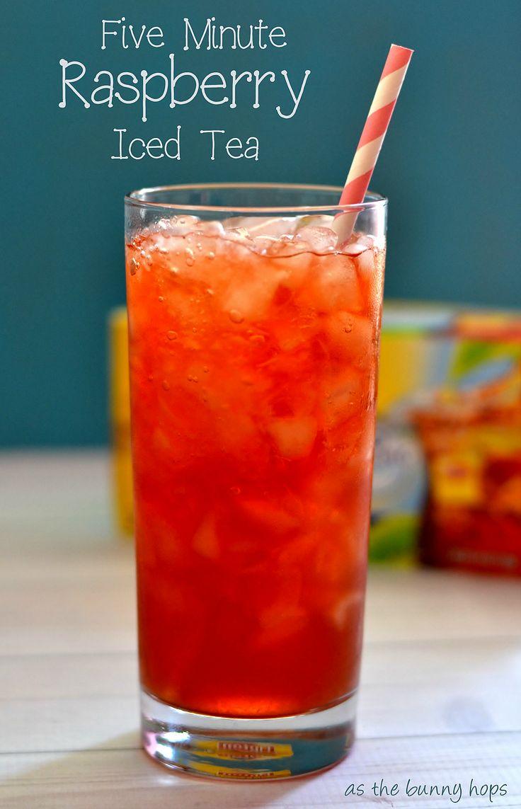 Make easy raspberry iced tea in five minutes!