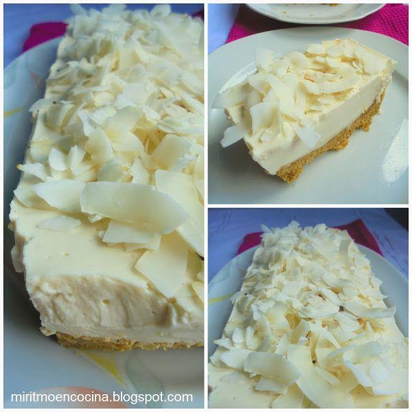 Torta fría de yogurt y coco | Cocinar en casa es facilisimo.com