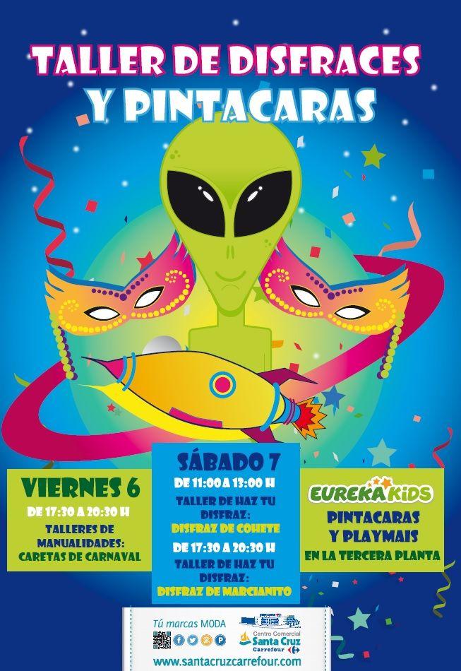 ¡¡Estos #Carnavales no te pierdas nuestros #Talleres de #disfraces y #pintacaras en el Centro Comercial Santa Cruz Carrefour!! Emoticono wink  http://www.santacruzcarrefour.com/  https://www.facebook.com/CCSantacruzcarrefour  https://twitter.com/CCSANTACRUZCARR  http://instagram.com/ccsantacruzcarrefour  Google Maps Indoor: http://bit.ly/1nf3XxA VISTA INTERIOR 360º http://bit.ly/1z6nTsw  INVITAR AMIG@S: https://www.cool-tabs.com/pub/77978