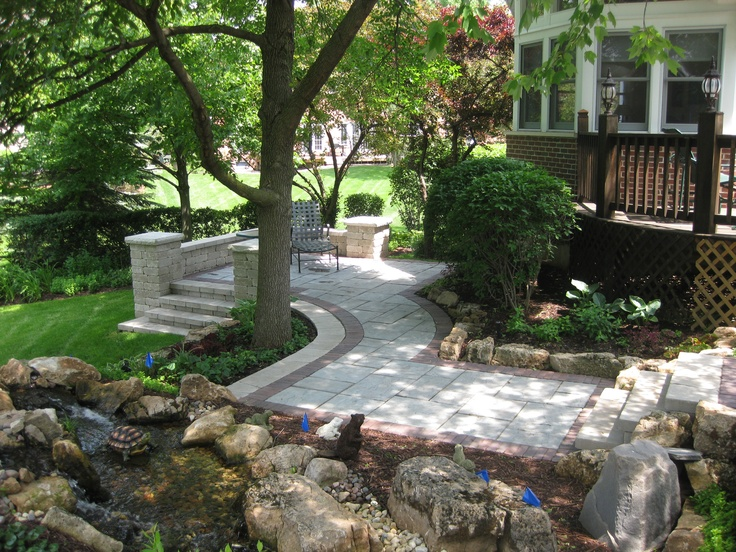 1000 images about backyard oasis in burr ridge il on for Creating a landscape