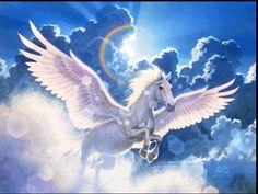 Pegaso, mitología griega: es un caballo mágico con alas, demasiado inteligente, bondadoso, pero a su vez salvaje, es tímido y solo puede ser domado por hombres de buen corazón.  Se sabe que son de color blanco, aunque se tiene conocimiento de que existen de color marrones e incluso negros. No importa el color los pegasos son muy nobles.  Podemos apreciar a Pegaso si volteamos al cielo, ya que se convirtió en una constelación estelar, la cual esta ubicada entre Andrómeda y Piscis.