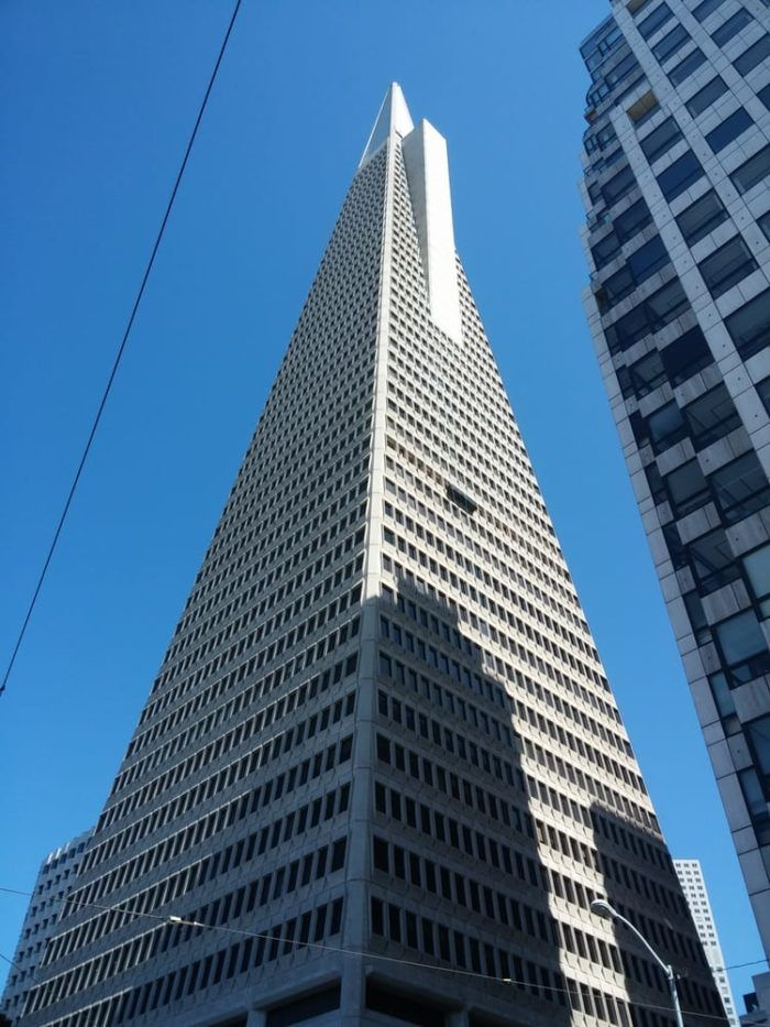 7. The Transamerica Pyramid - 600 Montgomery Street, San Francisco, 94111