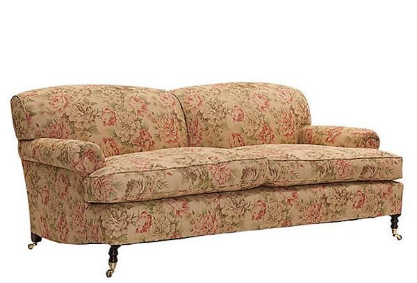 Girly Vintage Terracotta Sofa With Flower Pattern   Wedding Themes    Pinterest   Flower patterns, Terracotta and Floral couch