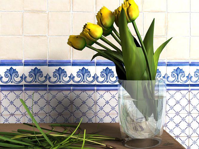 Azulejos cer micos serie alcora araya 205 estancias for Ceramica para cocina