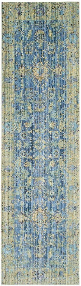 VAL123M Rug from Valencia collection.  Classic rug artistry gets a contemporary revival in the brilliant blues and multi-tone highlights of this vivid colored traditional area rug by Safavieh.