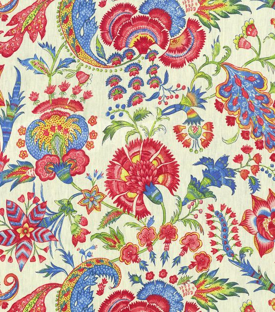 Home Decor Fabric Swatch Upholstery Williamsburg Grand Palampore JewelHome Decor  Fabric Swatch Upholstery Williamsburg Grand Palampore Jewel,