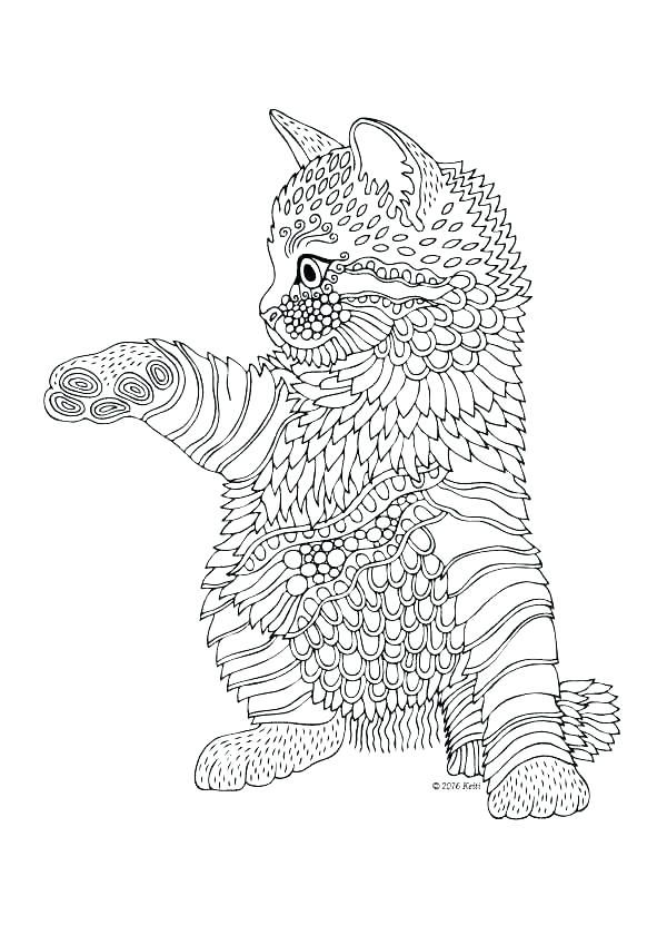 Cat Coloring Books Mandala Coloring Cat Cat Mandala Coloring Pages