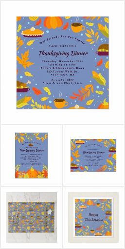 RUSTIC BLUE THANKSGIVING DINNER PARTY.  This collection of rustic blue seasonal …