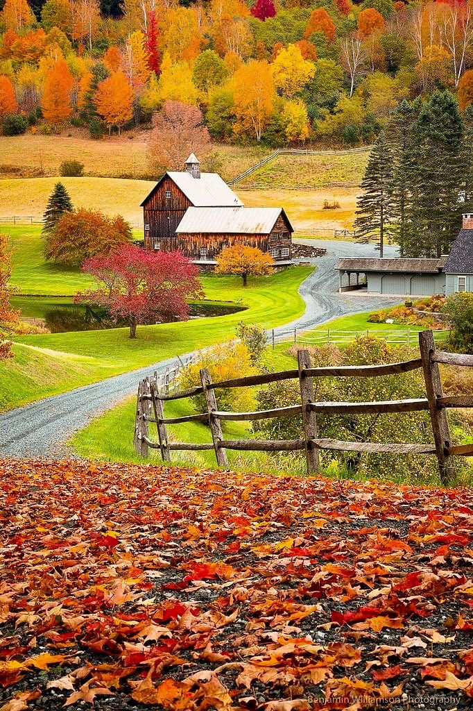 New England farm (Woodstock, Vermont) by Ben Williamson E
