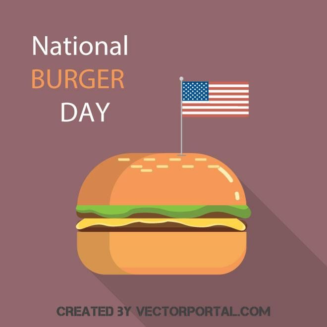 National burger day vector image