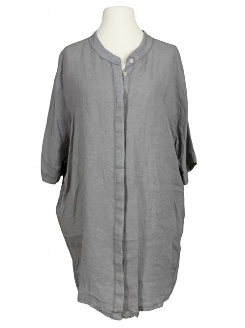 Damen Leinen Tunika Bluse, grau von Spaziodonna bei www.meinkleidchen.de                                                                                                                                                                                 Mehr