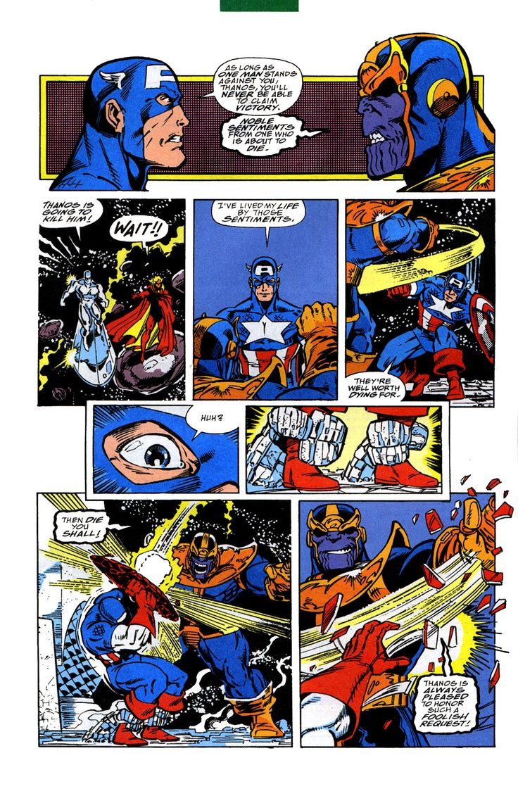 5. Captain America vs. Thanos (October, 1991) | The Infinity Gauntlet #4 || Top 10 Most Important Captain America Comics & Stories  (2/2)