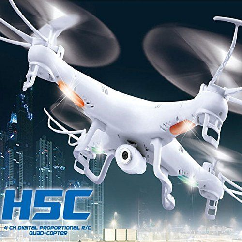 JJRC H5C 4CH 2.4G 6-Axis Gyro Headless Mode One-click Return RC Quadcopter by Left Hand White by YR-Seasons