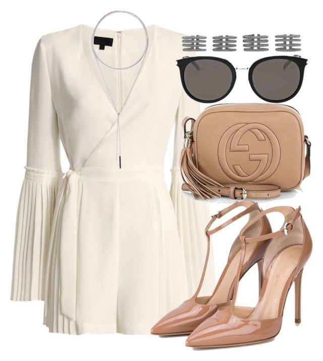 Sem título #2396 by mariandradde on Polyvore featuring Exclusive for Intermix, Gianvito Rossi, Gucci, Yves Saint Laurent, Maison Margiela and W. Britt