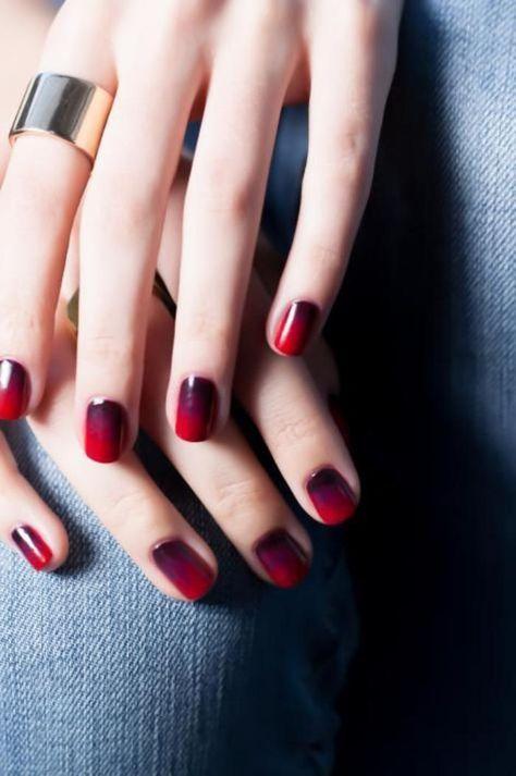 manucure ombré, nail art pour ongles courts