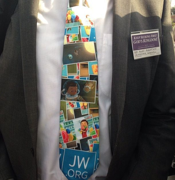 I'm all for telling all about JW.ORG, but this tie...uh.....