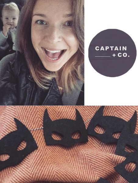 Batman Bunting || Captain + Co creates gorgeous felt bunting and wall hangings for your little person.