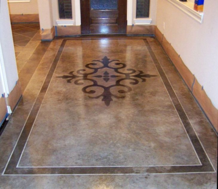 Stained+concrete+foyer+designs