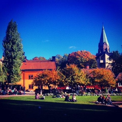 At Nytorget, Stockholm - always with nice weather