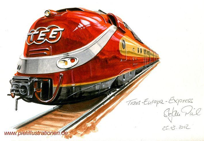 Locomotora VT 11.5 del TEE (Trans Europa Express), de DB (Deutsche Bundesbahn), Alemania