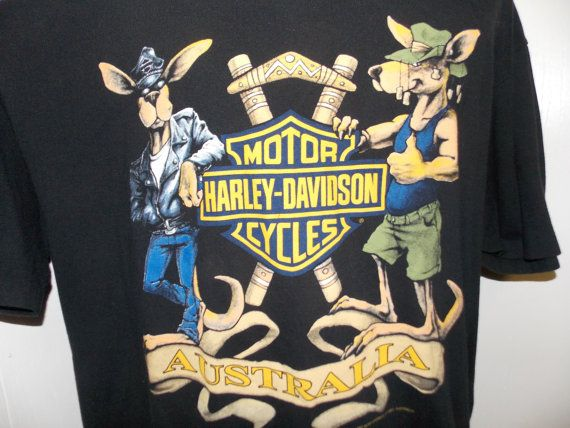 Vintage 1993 Harley Davidson Australia by PfantasticPfindsToo