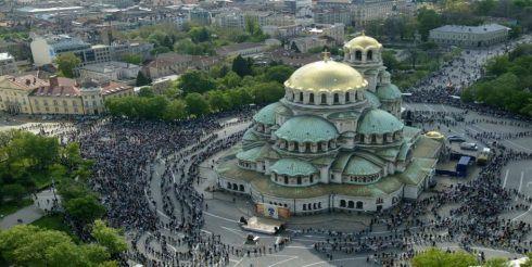 The capital city of Bulgaria- Sofia; Alexander Nevsky Cathedral