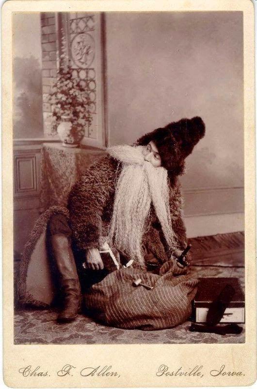 Photo fetiche: O Pai Natal era mais novo em 1890? / Vintage Fathe...