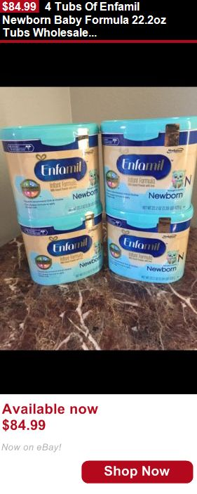Baby Formula: 4 Tubs Of Enfamil Newborn Baby Formula 22.2Oz Tubs Wholesale Lot BUY IT NOW ONLY: $84.99