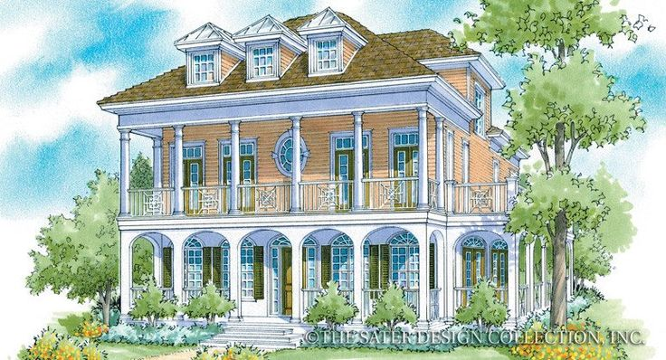 130 best images about renderings sater design luxury for Luxury plantation home plans