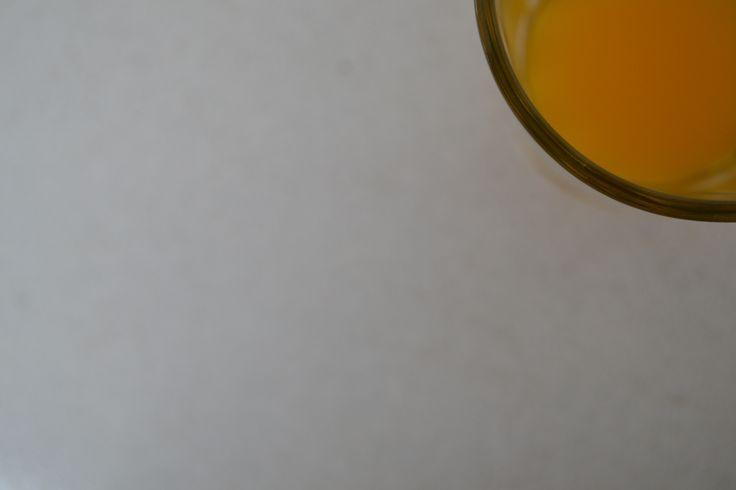 orange water on glass