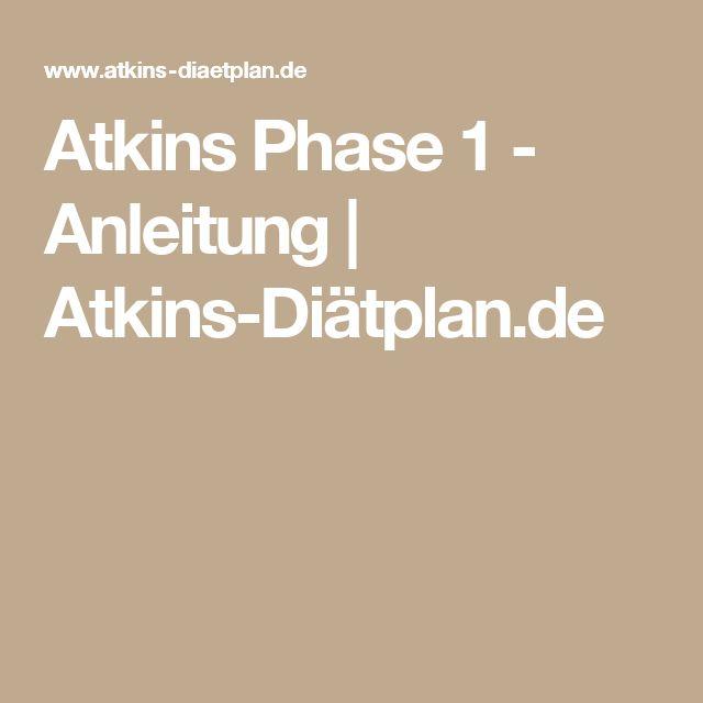 Atkins Phase 1 - Anleitung | Atkins-Diätplan.de