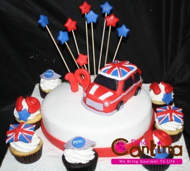British Mini Cooper Cake