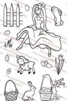Hanna Stamps clear stamps Spring Time