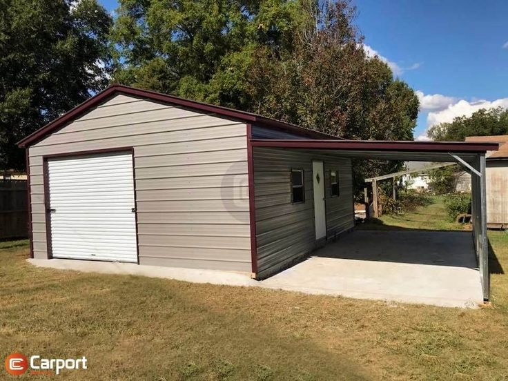 32x25 LeanTo Metal Garage Carport Central in 2020
