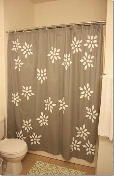 Paint A Shower Curtain For A One Of A Kind Look.