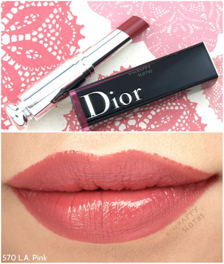 "Dior Addict Lacquer Stick ""570 L.A. Pink"": Review and Swatches"