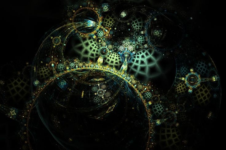 Fractal Digital Art - Treasures Of The Universe. Version 3 by Elena Ivanova IvEA    #ElenaIvanovaIvEAFineArtDigitalArt #Print #Decor #Interior #Fractal