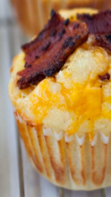 Bacon and Egg Cornbread Muffins | Recipe | Cornbread Muffins ...