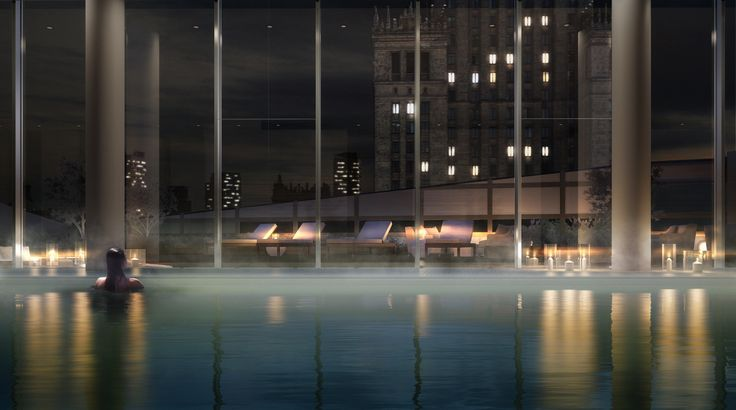 ZŁOTA 44 Swimming pool #Warsaw #Złota44 #swimmingpool #luxury #luxuryinterior #residentialbuilding #luxurylifestyle
