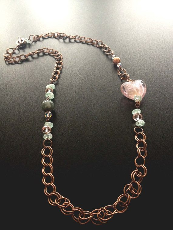 Faceted Crystal Beads Handmade Necklace with pink color by BYTWINS, €50.00