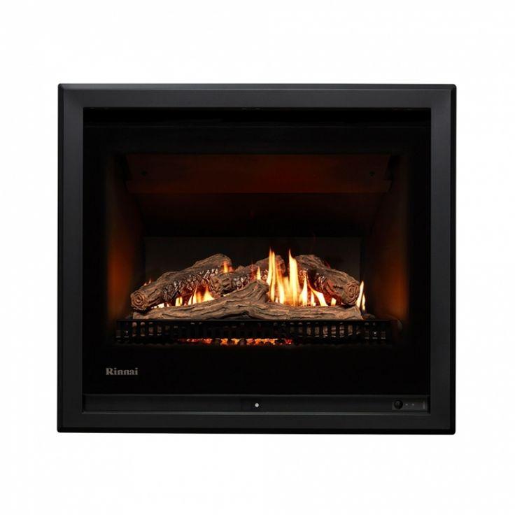 650 & 750 Gas Log Fire - Rinnai 750 Gas Log Fire - Heats 60m2