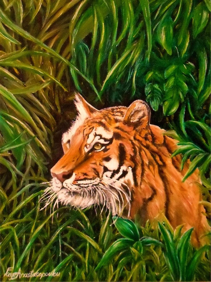 Tiger mania, Tiger obsession, Tiger addiction,  Tiger painting